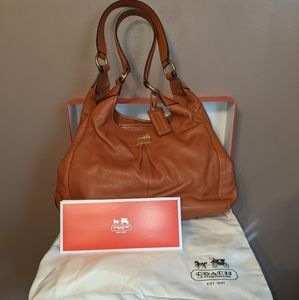 Coach Madison - Maggie Leather Hobo Cognac